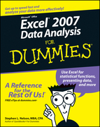 Excel 2007 Data Analysis For Dummies