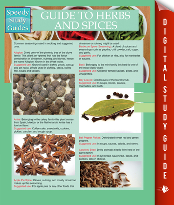 Guide To Herbs And Spices (Speedy Study Guides)