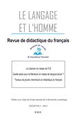 La chanson en classe de FLE - Quelle place pour la littérature en classe de langue/culture - Travaux de jeunes chercheurs en didactique du français