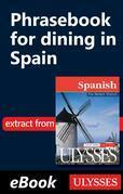 Phrasebook for dining in Spain