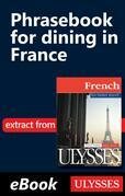 Phrasebook for dining in France