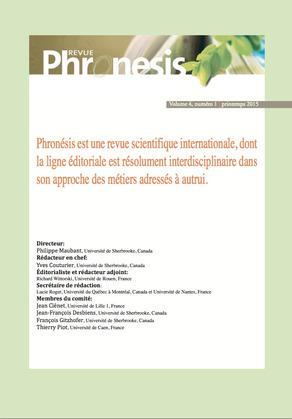 Phronesis Volume 4 numéro 1