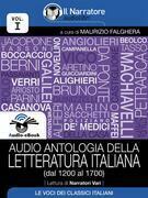 Audio antologia della Letteratura Italiana (Volume I, dal 1200 al 1700) (Audio-eBook)