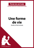 Une forme de vie de Amlie Nothomb (Fiche de lecture)