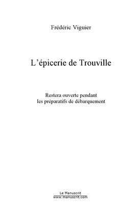 L'épicerie de Trouville