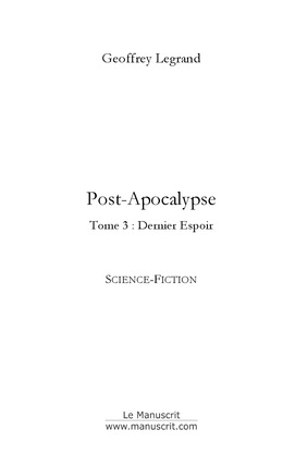 Post-apocalypse tome 3