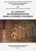 Le concept de représentation dans la pensée politique