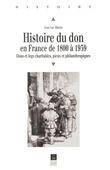 Histoire du don en France de 1800 à 1939