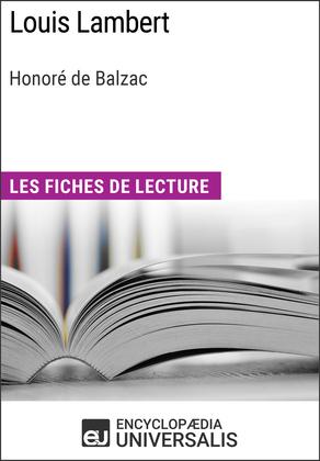 Louis Lambert d'Honoré de Balzac