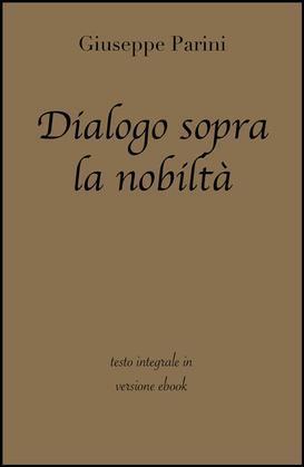 Dialogo sopra la nobiltà di Giuseppe Parini in ebook