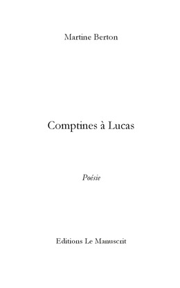 COMPTINES A LUCAS