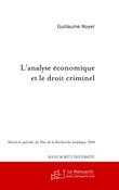 L'analyse économique et le droit criminel