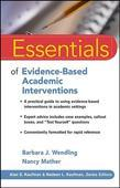 Essentials of Evidence-Based Academic Interventions