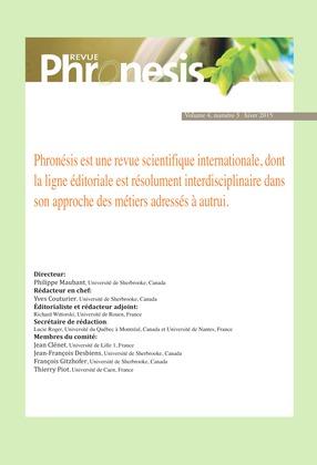 Phronesis. Vol. 4, numéro 3   2015