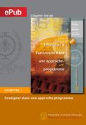 Enseigner à l'université dans une approche-programme (chapitre)