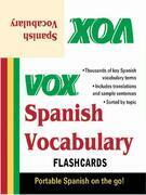 VOX Spanish Vocabulary Flashcards