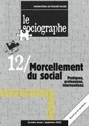 le Sociographe n°12 : Morcellement du social. Pratiques, professions, interventions
