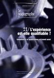 le Sociographe n°21 : L'expérience est-elle qualifiable ?