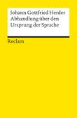 Abhandlung über den Ursprung der Sprache