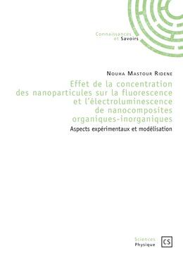 Effet de la concentration des nanoparticules sur la fluorescence et l'électroluminescence de nanocomposites organiques-inorganiques