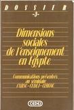 Dimensions sociales de l'enseignement en Égypte