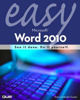 Easy Microsoft Word 2010, Portable Documents