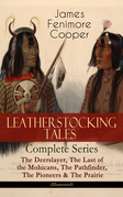 LEATHERSTOCKING TALES – Complete Series: The Deerslayer, The Last of the Mohicans, The Pathfinder, The Pioneers & The Prairie (Illustrated)