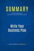 Summary: Write Your Business Plan