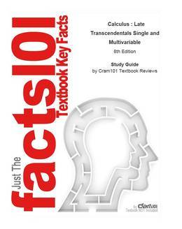 e-Study Guide for: Calculus : Late Transcendentals Single and Multivariable by Howard Anton, ISBN 9780471482734