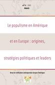 5 | 2005 - Le populisme en Amérique et en Europe: origines, stratégies politiques et leaders - Amnis