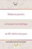4 | 2004 - Médias et pouvoirs en Europe et en Amérique du XIXe siècle à nos jours - Amnis