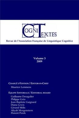 Volume3   2009 - Varia - Cognitextes