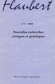 1 | 2009 - Nouvelles recherches critiques et génétiques - Flaubert