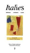 7   2003 - Leopardi. Poésie d'une prose - italies