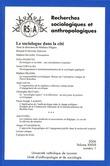 37-1 | 2006 - Le sociologue dans la cité - RSA