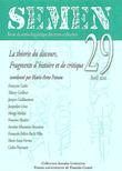29 | 2010 - La théorie du discours. Fragments d'histoire et de critique - Semen