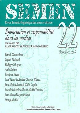 22 | 2006 - Énonciation et responsabilité dans les médias - Semen
