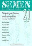 21 | 2006 - Catégories pour l'analyse du discours politique - Semen