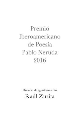 Premio Iberoamericano de Poesía Pablo Neruda 2016