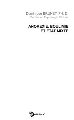 Anorexie, boulimie et état mixte