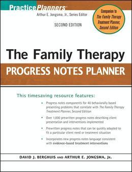 The Family Therapy Progress Notes Planner