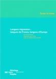 Langues régionales: langues de France, langues d'Europe