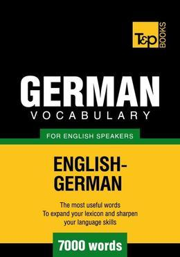 T&p English-German Vocabulary 7000 Words