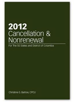2012 Cancellation & Nonrenewal