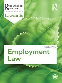 Employment Lawcards 2012-2013