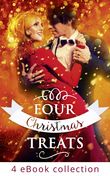 Four Christmas Treats: The Christmas Bride / Christmas Eve Marriage / Her Husband's Christmas Bargain / Christmas Bonus, Strings Attached (Mills & Boon e-Book Collections)