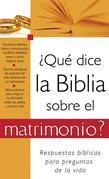 Qu dice la Biblia sobre el matrimonio?