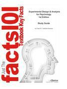 e-Study Guide for: Experimental Design & Analysis for Psychology by Herve Abdi, ISBN 9780199299881
