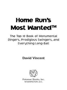 Home Run's Most Wanted™
