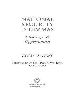 National Security Dilemmas
